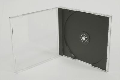 CD-Box mit schwarzem Tray