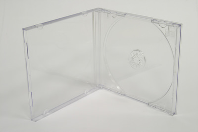 CD-Box mit transparentem Tray