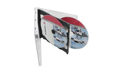 Doppel-CD-Box mit transparentem Tray